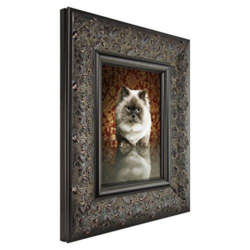 Craig Frames Borromini, 8 by 10-Inch Ornate Picture Frame, Black Walnut - Ornate Walnut