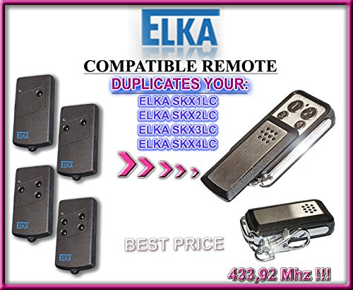 ELKA SKX1LC, SKX2LC, SKX3LC, SKX4LC compatible CLONE remote control replacement transmitter, 433,92Mhz fixed code clone!!!