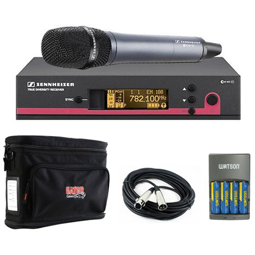 Sennheiser ew 135 G3 Wireless Handheld Microphone System with e 835 Mic - A - Plus Wireless Microphone Accessory Kit by Sennheiser