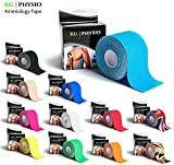 KG Physio Kinesiology Tape Bright Blue - Uncut Muscle Support Tape - 5cm x 5m roll - 12 colours...