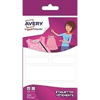 Avery 30 Etiquettes Vêtements autocollantes Family - Blanc (ETVET30)