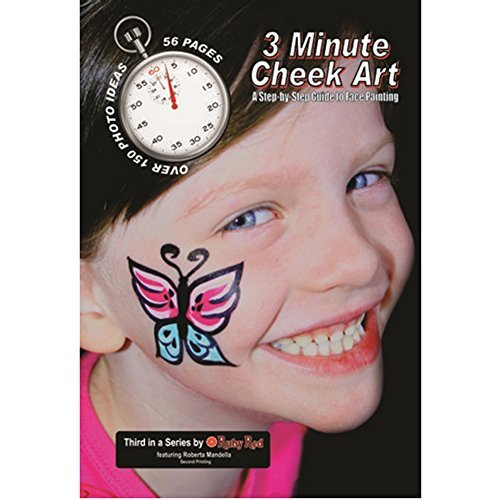 Ruby Red Paint Face Paint, How to Booklet - 3 Minute Cheek Art ()
