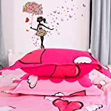 uxcell Umbrella Butterfly Flower Girl Removable