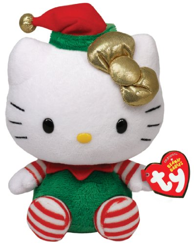 Ty Beanie Babies Hello Kitty - Green Christmas -