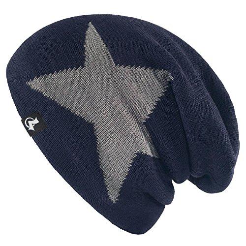 LETHMIK Slouchy Star Long Beanie Warm Winter Ski Skull Cap Knit Hat for Men & Women