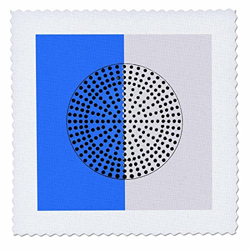 3dRose Alexis Photography - Abstracts - Image of Metal Perforated Circle. Black Hole Sun. Blue, White Colors - 10x10 inch Quilt Square (qs_283993_1)