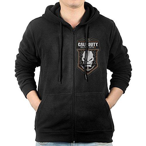(Men's Gameart Call Of Duty Black Ops 3 Logo Zip-Up Hoodie Sweatshirt)