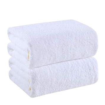 Mhrzb-toalla Toallas de baño, algodón Absorbente Suave de Dos Piezas para Hombres Adultos y Mujeres Blancas: Amazon.es: Hogar