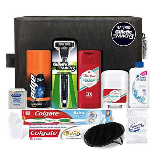 Convenience Kits Men's Premium 12-Count Travel Kit, Featuring: Mach3 Men's Disposable Razor from Convenience Kits