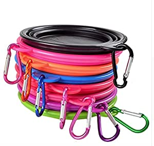 Collapsible Dog, Puppy Or Cat Bowl, Expandable For Food And Water. Great For Traveling Or Hiking