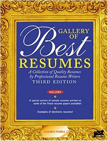 GALLERY OF BEST RESUMES 3RD ED.: DAVID F. NOBLE: 9781563709852 ...