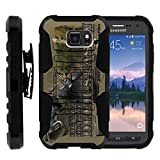 TurtleArmor | Compatible for Samsung Galaxy S6 Active Case | G890 [Hyper Shock] Hard Reinforced Rugged Impact Gel Hybrid Cover Holster Belt Clip Kickstand - Deer Hunting Season