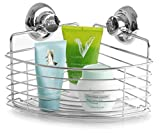 BINO SMARTSUCTION Chrome Shower Caddy, Corner Basket - Best Reviews Guide