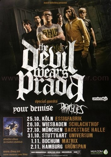 (The Devil Wears Prada - Louder Than Thunder 2009 - Poster, Concertposter, Concert)