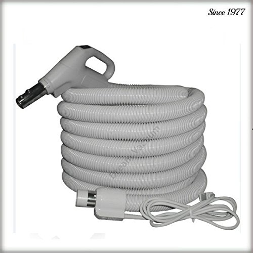 NuTone 35ft Pigtail Electric Hose with 3 way switch, Button-lock & Crushproof + Free Hose Hanger Free 2-day Shipping from Dream-Vac Plastiflex