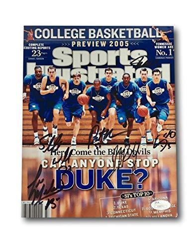 Signed Basketball Team (DUKE BASKETBALL 2005 TEAM SIGNED 8X PHOTO JSA COA REDDICK WILLIAMS MCROBERTS +3)