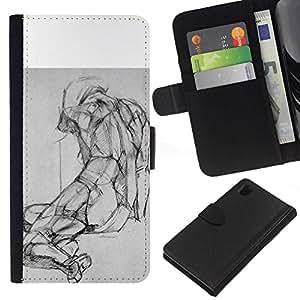 All Phone Most Case / Oferta Especial Cáscara Funda de cuero Monedero Cubierta de proteccion Caso / Wallet Case for Sony Xperia Z1 L39 // Drawing Pencil Body Image