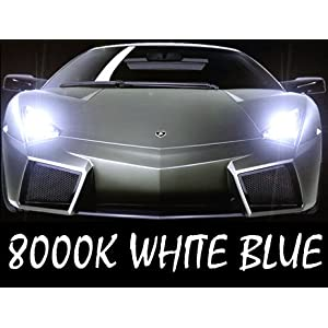 D2S D2R D2C OEM HID Xenon Headlight Factory Replacement Light Lamp Bulbs One Pair (8000K Iceberg Blue) by Autolizer