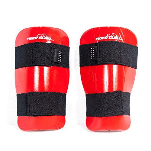 Tiger Claw Martial Arts Shin Guard - Sparmaster Shin Guard - Red