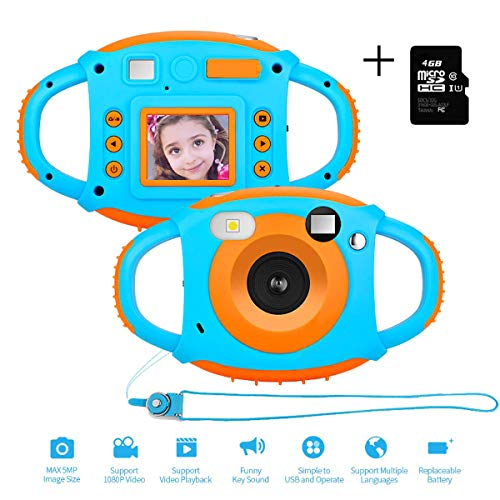 Sp full Kids Digital Camera – Anti-Drop Children Video Camcorder with Memory Card, Supports Playback and TV Output
