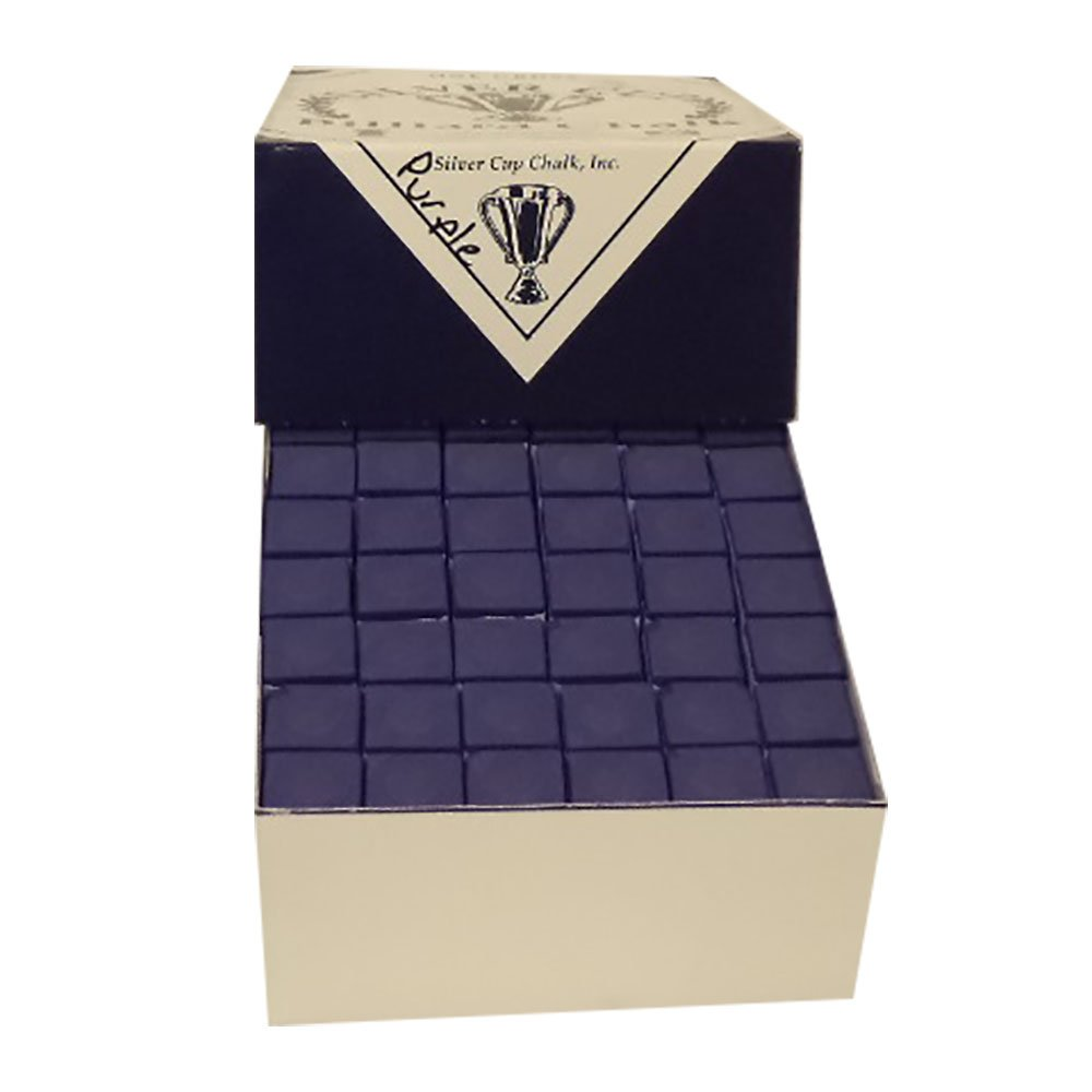 Silver Cup Twelve Dozen Purple Pool Cue Chalk