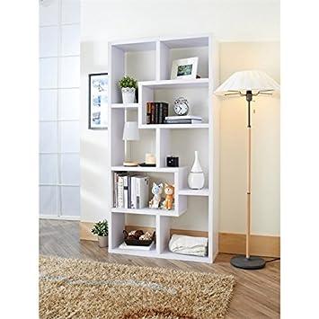Furniture of America Taki Modern Open Bookcase in White