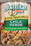 Juanita's CHILE VERDE Pork & Green Chile Sauce 25oz (6 Cans)