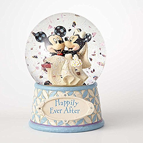 Enesco Disney Traditions Mickey and Minnie Wedding Waterball