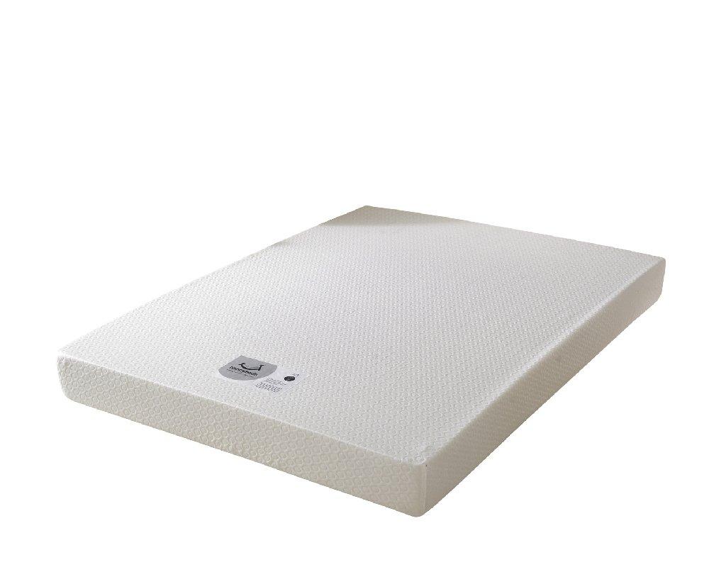 Happy Beds Memory 8000orthopädischen Memory Foam Feste Matratze mit abnehmbarer Bezug mit Reißverschluss/Stoff Diwan Basis/verschiedene Schublade Optionen/Uni Kopfteil, Grau, 150 x 200 cm