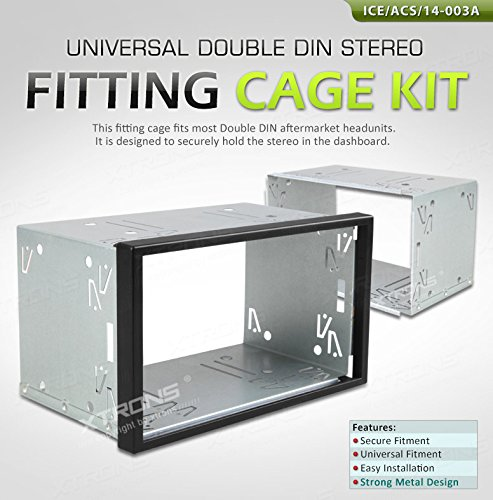 Car Audio & Video Installation Double Din Radio Mounting Sleeve Cage Double Din Radio Cage New