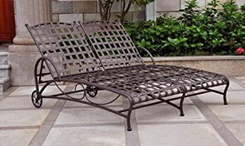 Amazoncom Double Patio Chaise Lounge Kitchen Dining