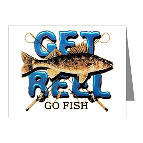 Price comparison product image Note Card Get Reel Go Fish Fishing Fisherman