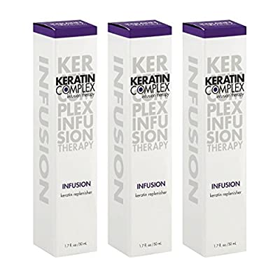 Keratin Complex Infusion Keratin Replenisher – 1.7 Oz – 3 ITEM VALUE PACK - Hair Treatment – Anti Frizz – Hydrating Styling Cream Conditioner – Humidity Blocker – Smoothing Cream Therapy