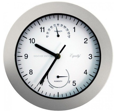 LaCrosse 10'' Silver Weather Clock