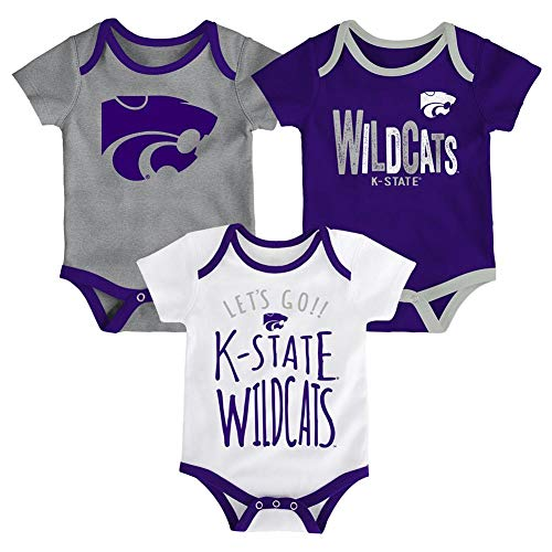 Outerstuff Kansas State University Infant Creeper Set Lil Tailgater 3 Pack (6-9 M)