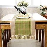 Table Runner/American Style,Rural,Rural,Tassel Table Flag/School Of Wind,Lattice Bed Flag-A 38x180cm(15x71inch)