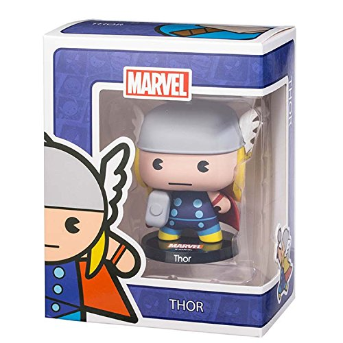 Amonkui Marvel Cute Cartoon The Avengers Action Figures Toy With Thor Spider Captain America Iron Man Hulk For Decor Collection