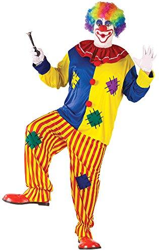 Big Costumes Plus Clown Top (Big Top Clown Costume Plus Adult Mens)