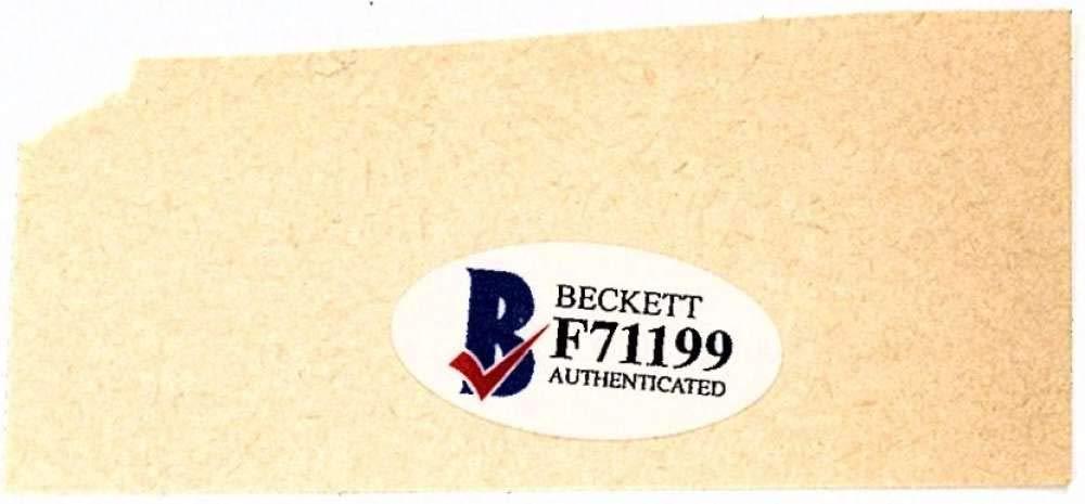 Norm Cash Signed Autographed 1x2.5 Vintage Cut Signature Beckett BAS