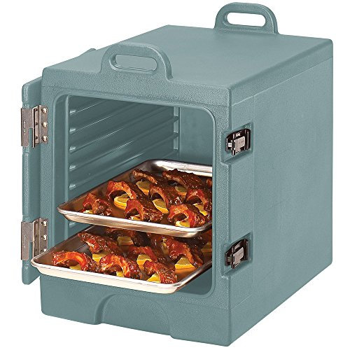 Slate Blue Cambro Camcarrier 1318MTC401 Insulated Tray / Sheet Pan Carrier - Front Load Holds Half Size Pans (Blue Camcarrier)