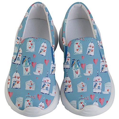 PattyCandy Kids & Toddlers Slip On Love Bird & Cage Lightweight Shoes-US 5.5Y by PattyCandy
