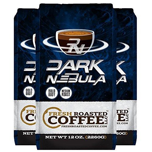 Dark Nebula Espresso Blend, 12 Oz. Whole Bean Bags, Fresh Roasted Coffee LLC. (3 Pack - Whole Bean)