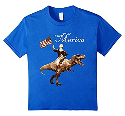 George Washington Riding a Tyrannosaurus Rex 'Merica T-Shirt