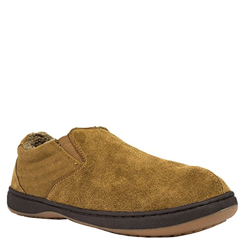 Pedic Chestnut Men's Gore Suede Twin Jadin Canvas Tempur Slipper Un4xw4Y