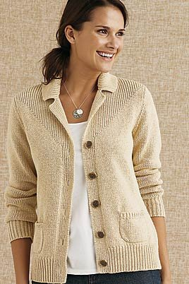 Women's Regular Notched collar Cotton Cardigan (UK Size 10 - 12 ...