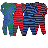 "Leveret Big Boys ""Striped"" 2 Piece Pajama Set 100% Cotton (Size 5-14 Years)"