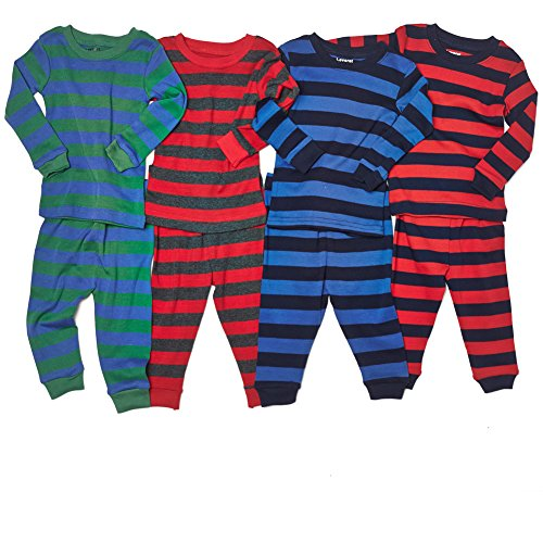 "Leveret Big Boys ""Striped"" 2 Piece Pajama Set 100% Cotton (Size 6-14 Years)"