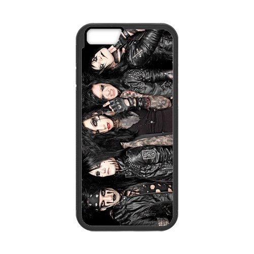 Fayruz- Personalized Protective Hard Textured Rubber Coated Cell Phone Case Cover Compatible with iPhone 6 & iPhone 6S - Black Veil Brides F-i5G634