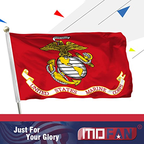 MOFAN US Marine Corps Flag Polyester Nicely stitched and Viv