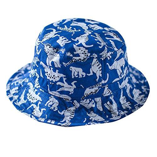 [Toubaby Kid Boy's Dinosaur Sun Hats Little Boy's Sunmmer Hats Bucket Hat 0-7t (6-12M)] (Dinosaur Hats)